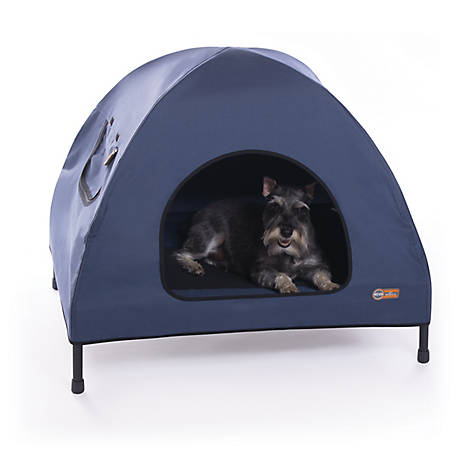 K&H Pet Products K&H Pet Cot House, Medium, Navy Blue, 25 in. x 32 in. x 28 in.
