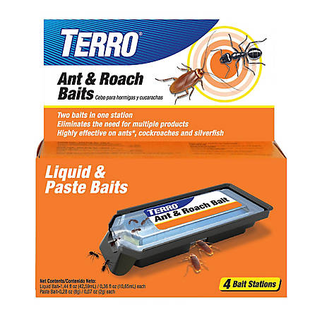 Terro Ant & Roach Bait 4 ct. Liquid & Paste, T360
