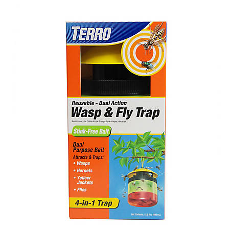 Terro Wasp & Fly Trap Stink Free, T516
