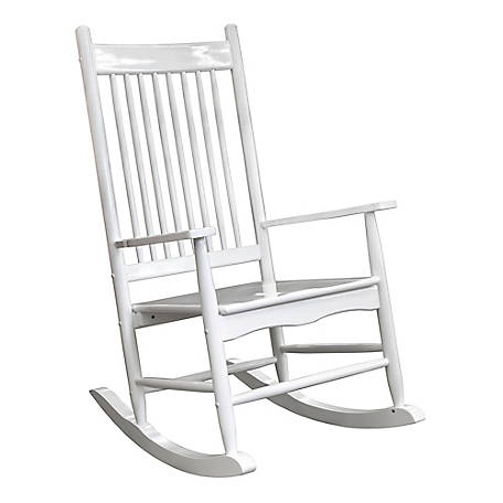 Red Shed White Heirloom Rocker, YQ-065A