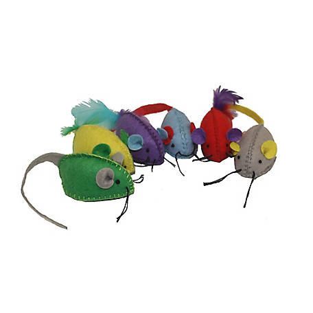 Multipet Stitch Mice 6-Pack, 20135