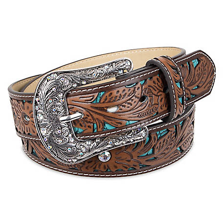 Indigo Supply Co. Women's Western Arabesque Belt with Engraved Buckle, 44  in. L x 1.5 in. W, 13ID120001-200 at Tractor Supply Co.