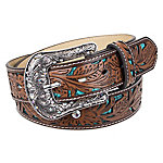 Indigo Supply Co. Western Arabesque Women's Belt with Engraved Buckle