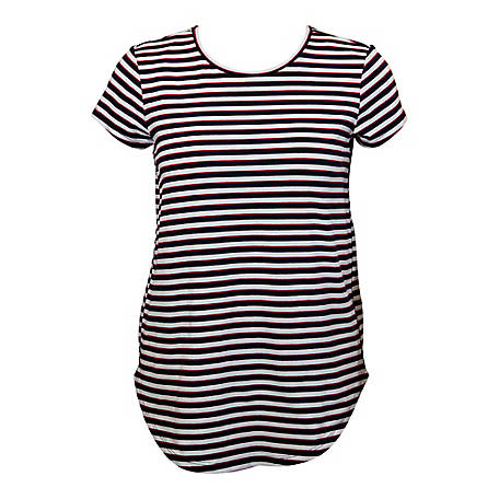 Olivia Sky Women's Short Sleeve Stripe Tee