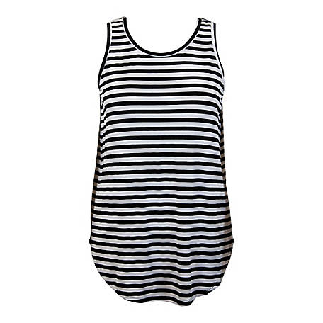Olivia Sky Women's Sleeveless Stripe Tank