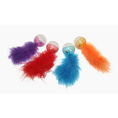 Multipet Lattice Ball with Feather 2-Pack, 20143