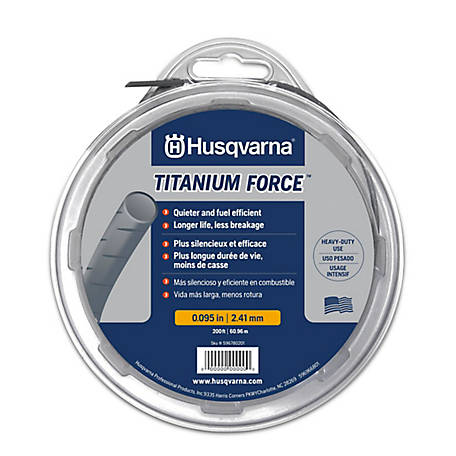 Husqvarna .095 x 200 ft. Titanium Trimmer Line, 596780201