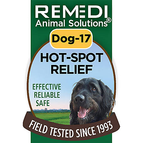 Remedi Animal Solutions Hot Spot Relief Dog Spritz,1 oz., WR1PDOG17