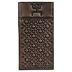 Hooey Rodeo Tooled Leather Wallet, Weathered Tobacco