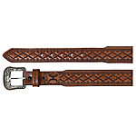 Hooey Tapered Leather Belt, Distressed Light Chestnut Wash