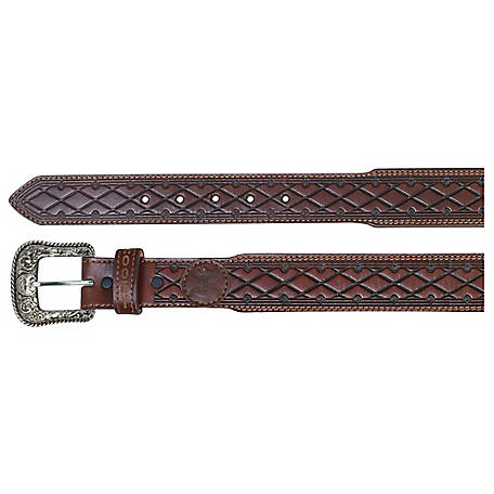 Hooey Tapered Leather Belt Distressed Mahogany Wash At