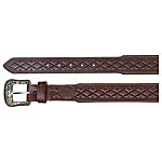 Hooey Tapered Leather Belt, Distressed Mahogany Wash
