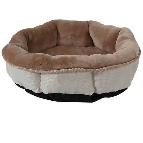 Precision Pet Products SnooZZy Rustic Elegance Shearling Round Pet Bed, 17 in. x 4.5 in.
