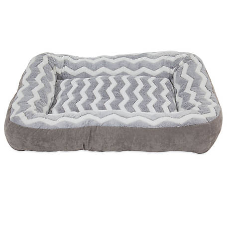 Precision Pet Products 7024891 SnooZZy Zig Zag Low Bumper Bed, 36' L x 27' W x 5' H, Courduroy