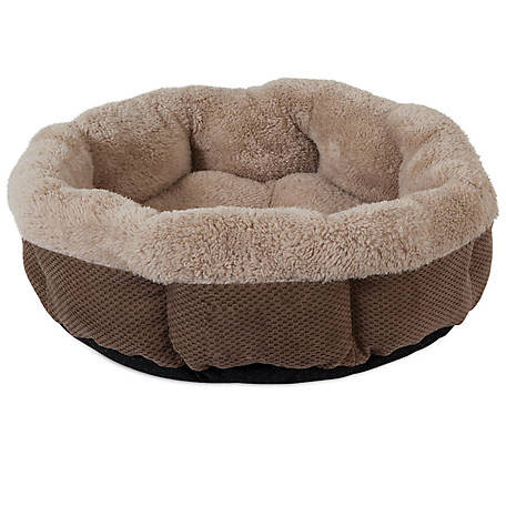 Precision Pet Products Shearling Round Chenille Pet Bed