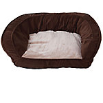 Precision Pet Products SnooZZy Chevron Couch Dog Bed, Chocolate, 32 in. x 25 in. x 10.5 in.