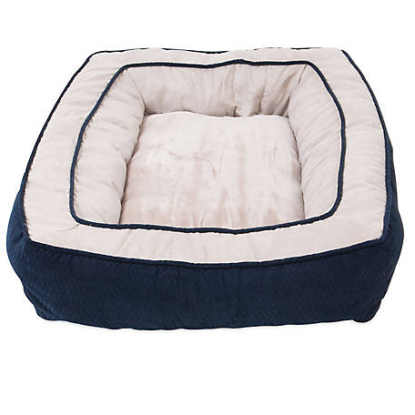 Precision Pet Products 7077035 SnooZZy Chevron Chenille Bumper Dog Bed, 27 in. x 36 in., Navy