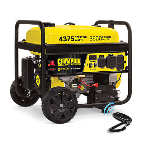Champion Power Equipment 3500 Watt Wireless Electric Strt Generator, 100558