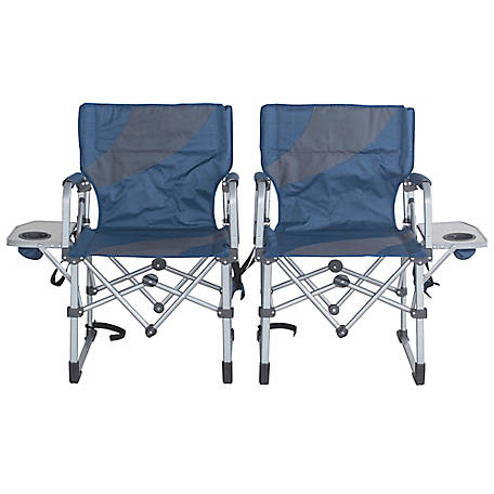 Sportsman Series Folding Chairs with Side Table Set of 2, DCSTSET