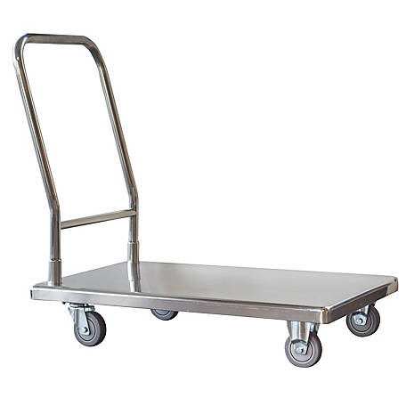 Pro Series Stainless Steel Platform Truck Utility Cart , FPT500SS