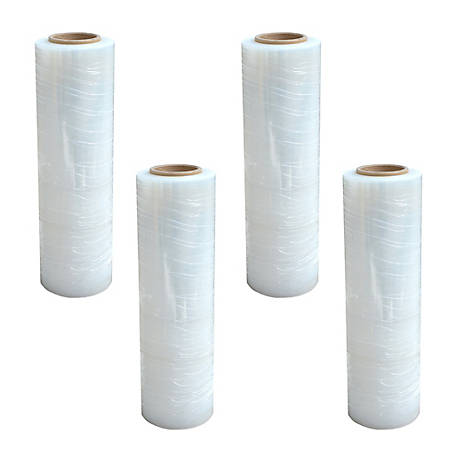 Pro Series Stretch Wrap Roll 18 in. x 1500 ft., 4 Pack, HNDWRAP4