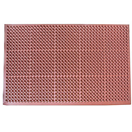 Buffalo Tools 3 x 5 ft. Industrial Rubber Floor Mat Red, RDRMT35