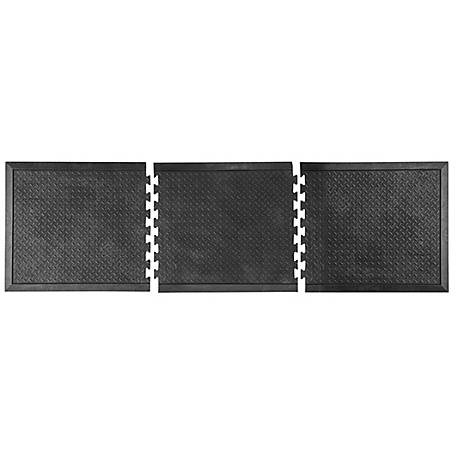 Buffalo Tools Anti Fatigue Rubber Mat 3 Piece Set, RIAFM3