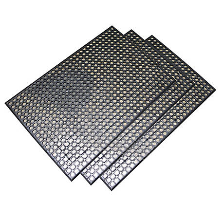 Buffalo Tools 2 x 3 ft. Industrial Rubber Floor Mat 3-Piece