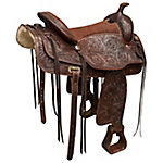 Buffalo Outdoors 16 in. Leather Western Saddle, SADDLE
