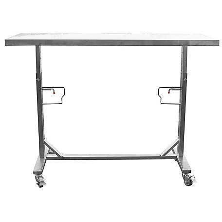 Sportsman Series Stainless Adjustable Rolling Work Table, SSADJWT