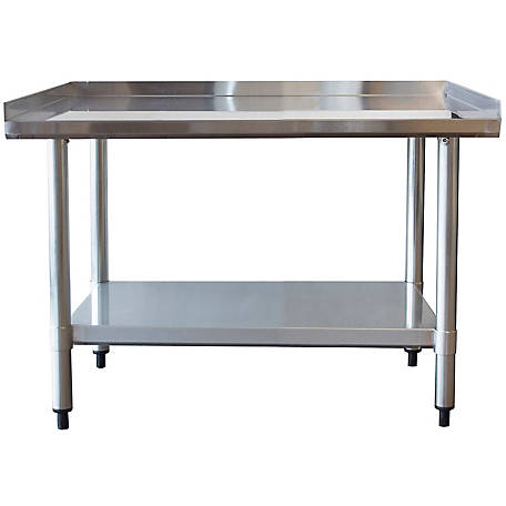 Sportsman Series 24 in. x 36 in. Stainless Work Table With Edge, SSWT36 in.