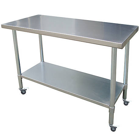 Sportsman Series 24 in. x 60 in. Stainless Rolling Work Table, SSWTWC60 in.