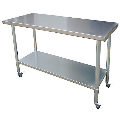 Sportsman Series 24 in. x 72 in. Stainless Rolling Work Table, SSWTWC72 in.