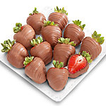 A Gift Inside Pure Milk Chocolate Covered Strawberries - 12 Berries