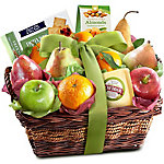 A Gift Inside Cheese And Nuts Classic Fruit Basket