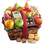 A Gift Inside Orchard Delight Fruit And Gourmet Basket