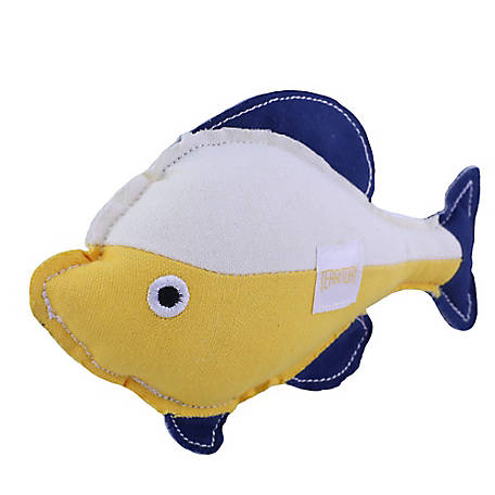 Territory Canvas Squeaker Toy Flounder, PT108Y
