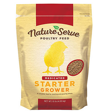 NatureServe Natureserve Chick Str Grower Medicated, 101110