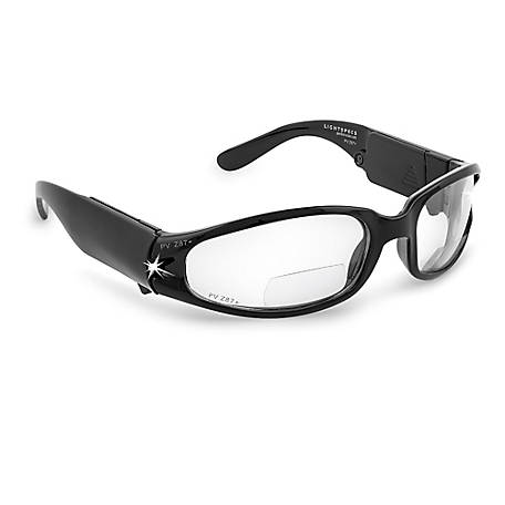 Panther Vision Lightspecs Bifocal Impact Resistant Lense Led Safety Glasses 2.00 Diopter