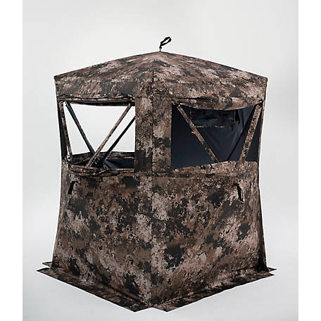 treeline 2-Person Full Zip Door Deer Blind Veil Camo, TSCHUB2-WID