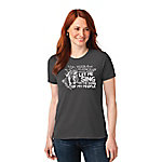 OverEZ Women's Let Me Sing Chicken Humor T Shirt
