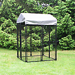 KennelMaster 4 ft. x 4 ft. x 6 ft. Black Powder Coated Kennel, DK644WC