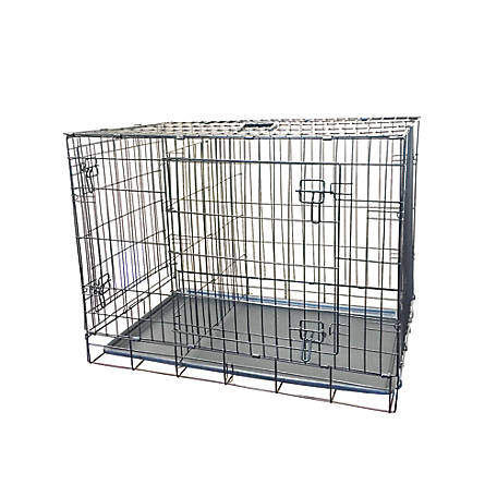 KennelMaster 36 in. x 23 in. x 27 in. Folding Kennel Crate With 2 Doors, FKC362327