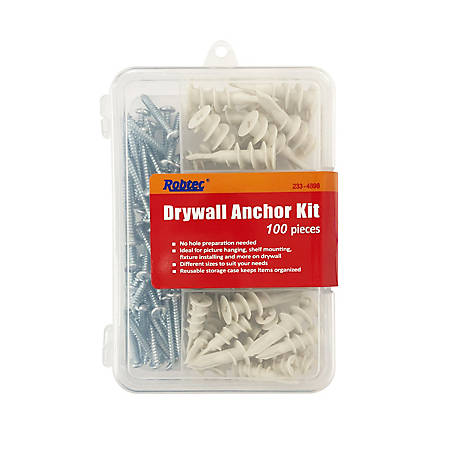 Robtec Drywall Anchor Assortment 100-Pack, DWAC100