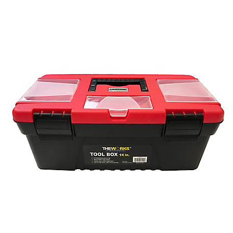 THEWORKS 14 Tool Box with Lid Organizers, TBT14