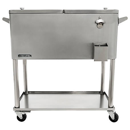 Permasteel Stainless Steel Patio Cooler, 80 qt., PS-206-SS