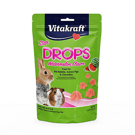 Vitakraft Vitakraft Star Drops Watermelon Flavor Treat 4.4 oz., 39571