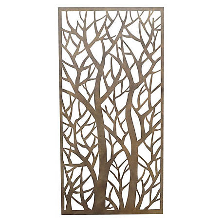 Stratco Forest Steel Privacy Screen Wall Art, 6 ft. x 3 ft.