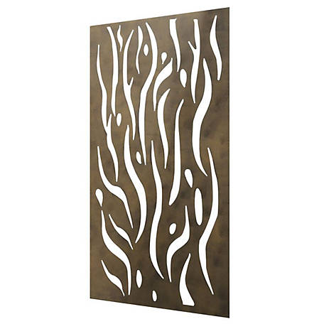 Stratco Kelp Steel Privacy Screen Wall Art, 4 ft. x 2 ft.