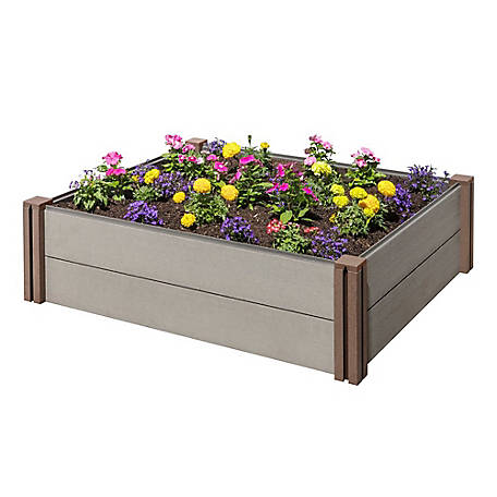 Stratco Wood Plastic Composite Raised Garden Bed, LG 34499